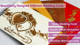 Different Look of Indian Wedding Cards