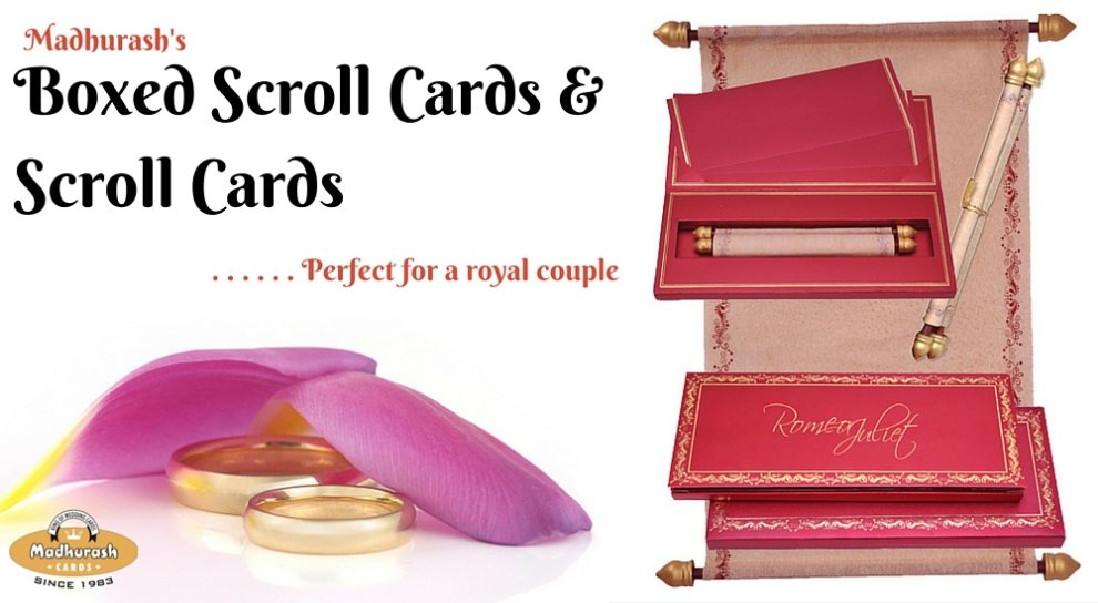 Boxed Scroll & Scroll Invitation Cards