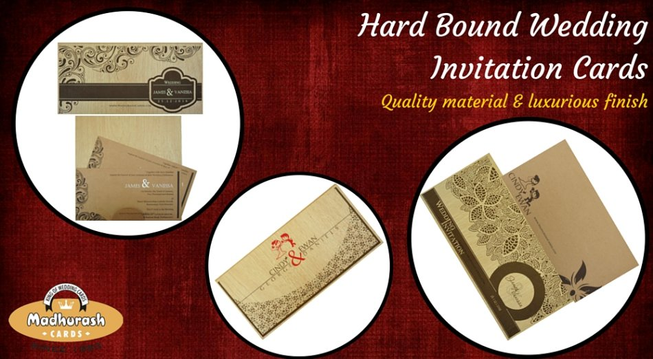 Hard Bound Wedding Invitation Cards
