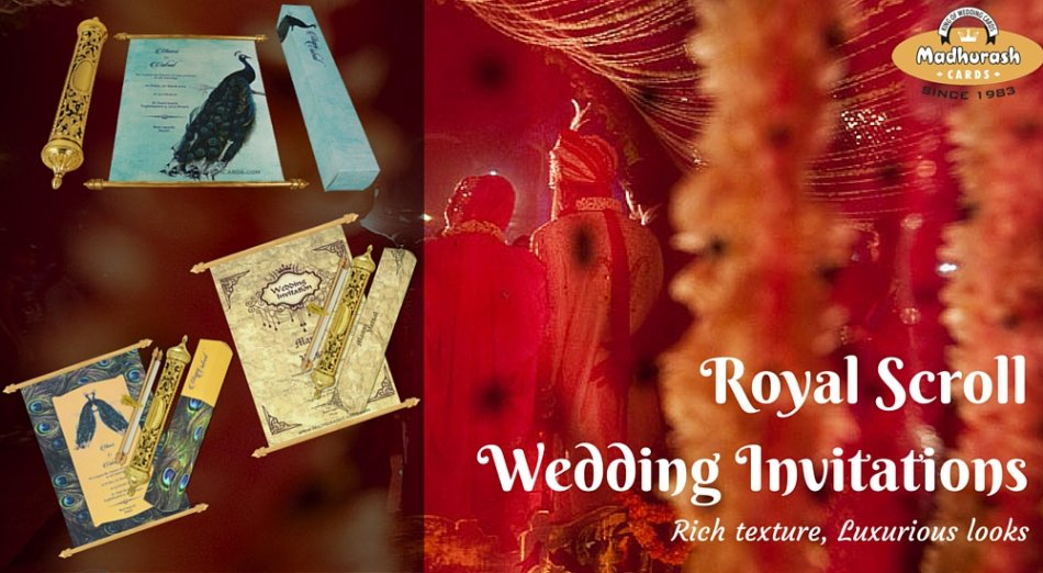 Royal Scroll Invitations Cards