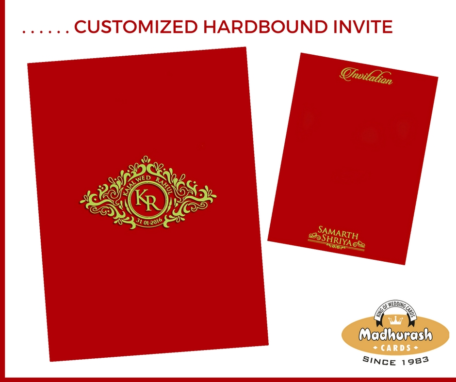 Customized Hardbound Invite