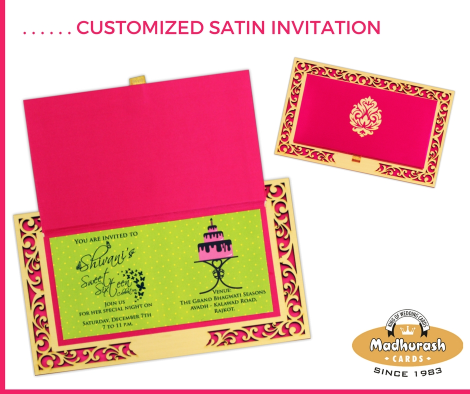 Customized Satin Invite