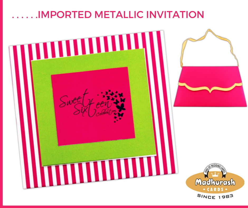 Customized Imported Metallic Invite