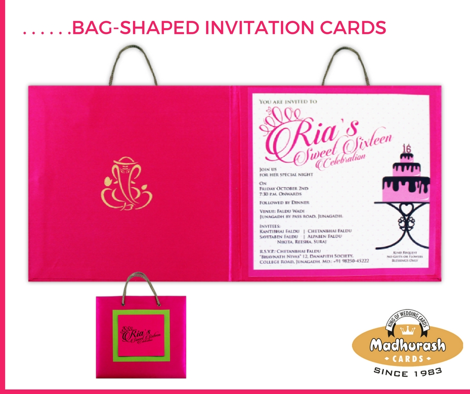 Customized Bag-shaped Invite