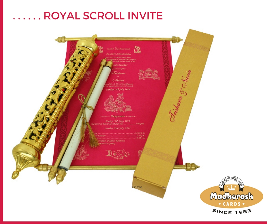 Royal Scroll Invite