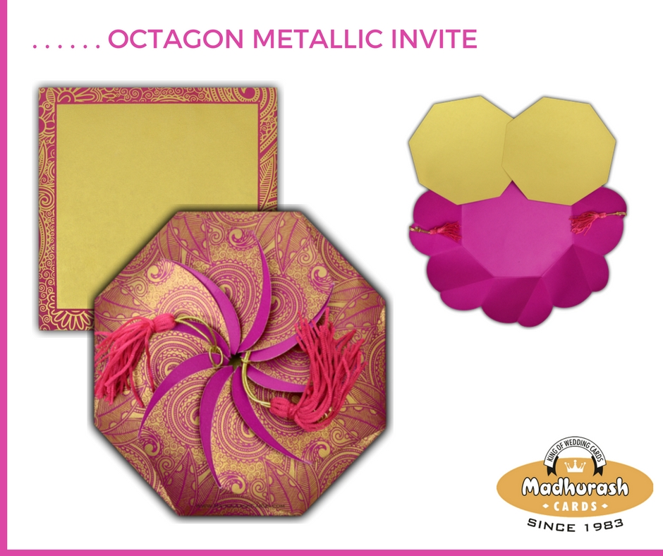 Octagon Metallic Invite