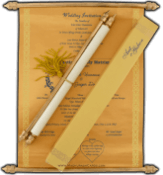 Scroll Wedding Invitation Cards Collection by Madhurash Cards