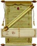 Scroll Wedding Invitations Cards