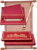 Box Scroll Wedding Invitation Cards by Madhurash Cards