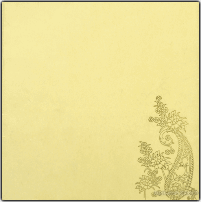 Muslim Wedding Cards - MWC-16137 - 3