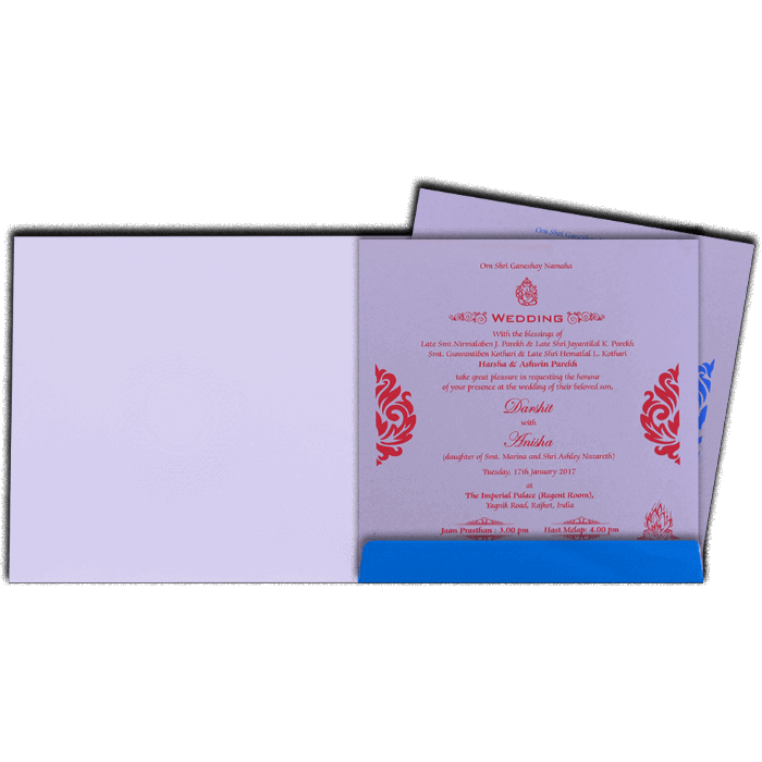 Hindu Wedding Cards - HWC-16093I - 3