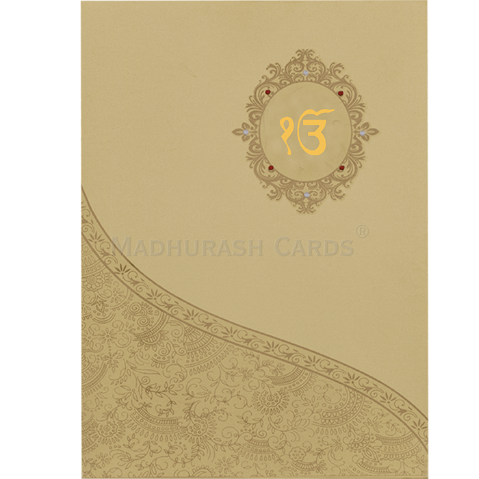 Sikh Wedding Cards - SWC-16109S - 2