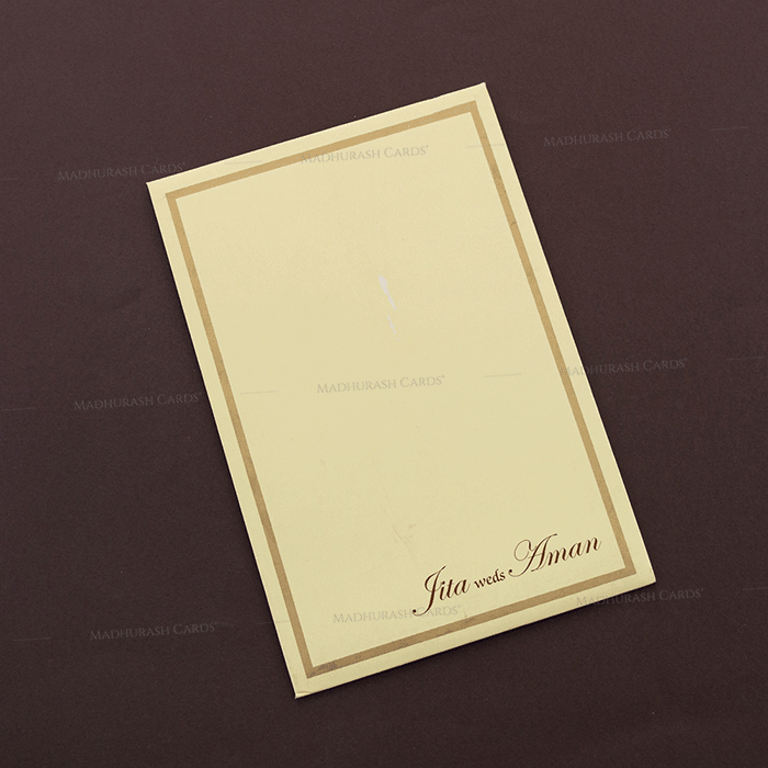 Muslim Wedding Cards - MWC-16109I - 3