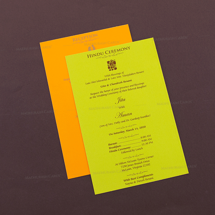 Hindu Wedding Cards - HWC-16109I - 4