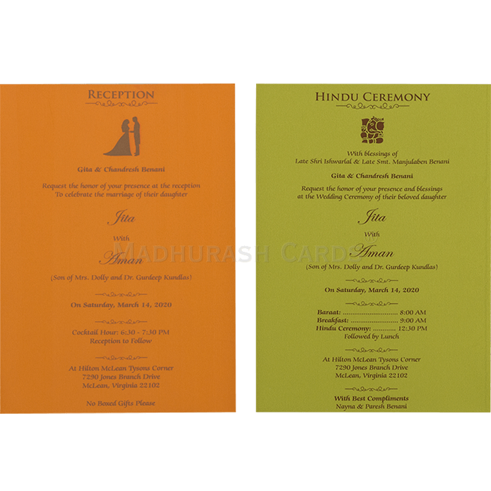 Hindu Wedding Cards - HWC-16109I - 5