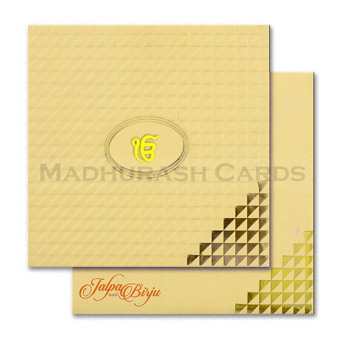 test Sikh Wedding Cards - SWC-16162S