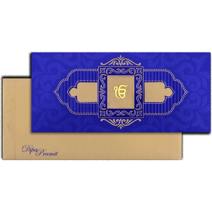 test Sikh Wedding Cards - SWC-7503S