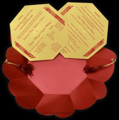 Muslim Wedding Invitations - MWC-7318 - 4