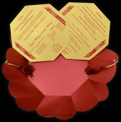 Designer Wedding Cards - DWC-7318 - 4