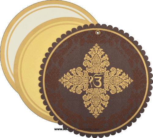 Sikh Wedding Cards - SWC-9059BRCS - 4