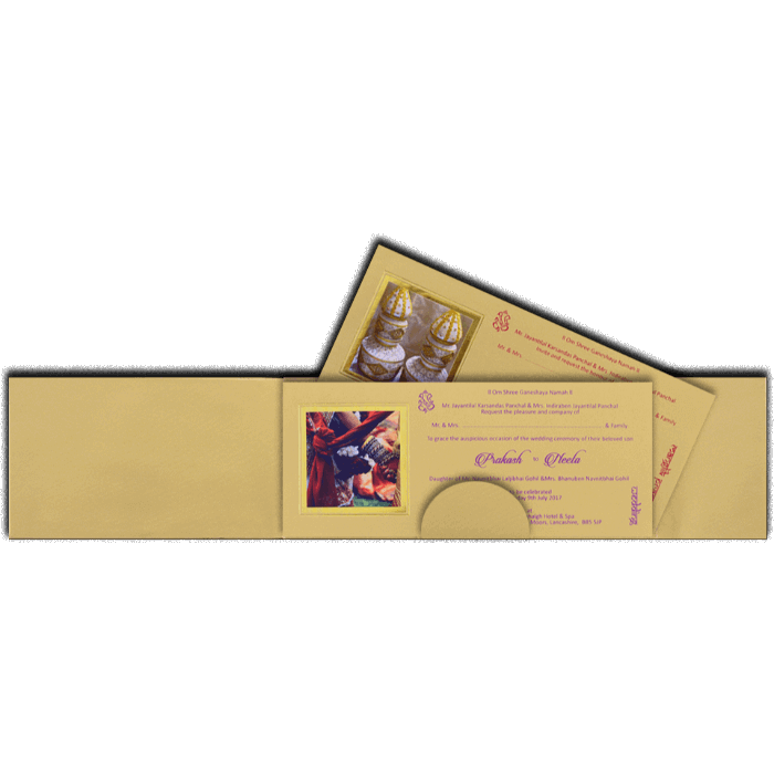 Hard Bound Wedding Cards - HBC-14078 - 3