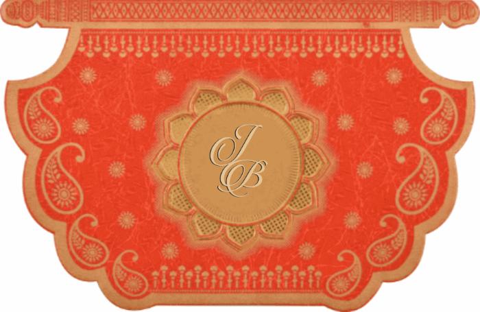 Muslim Wedding Invitations - MWC-16188I
