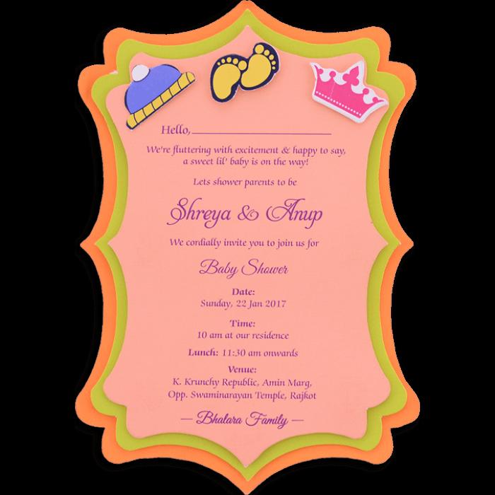 test Baby Shower Invitations - BSI-9762
