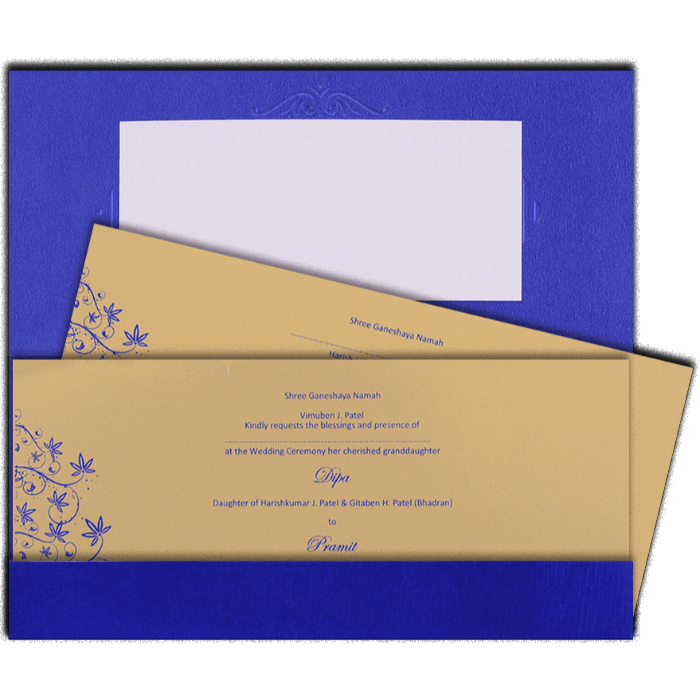Muslim Wedding Cards - MWC-7503I - 3