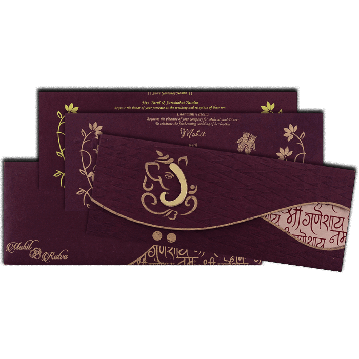 Hindu Wedding Cards - HWC-7126 - 5