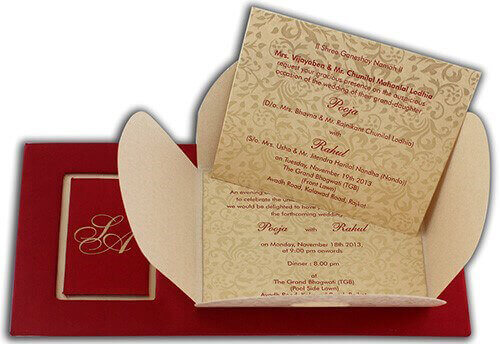Hard Bound Wedding Cards - HBC-7499 - 4