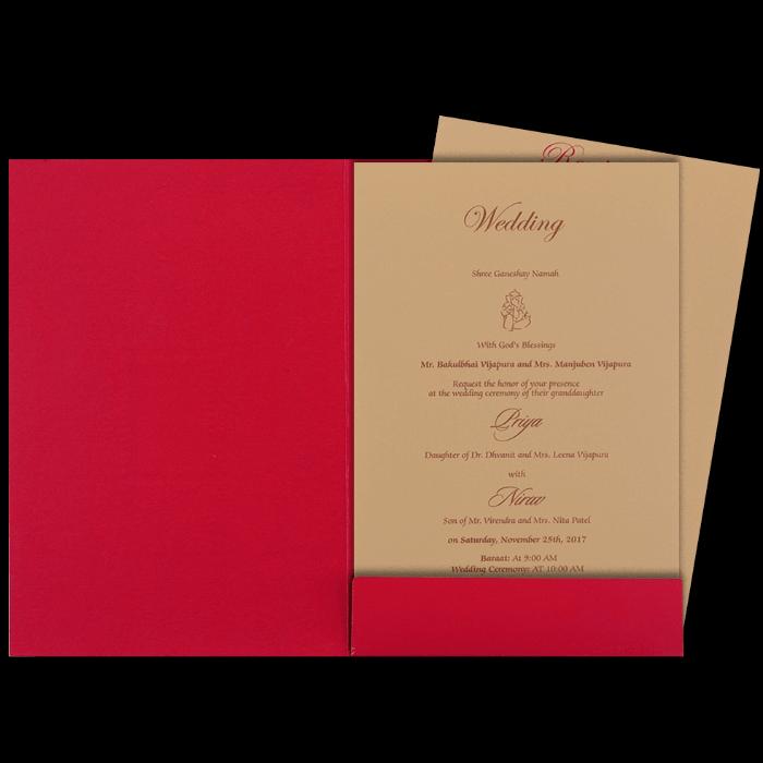 Hindu Wedding Cards - HWC-16069 - 3