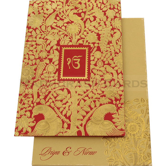 Sikh Wedding Cards - SWC-16069s - 2