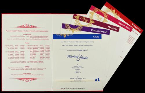 Custom Wedding Cards - CZC-9096 - 4