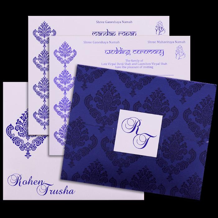 Custom Wedding Cards - CZC-9067 - 4