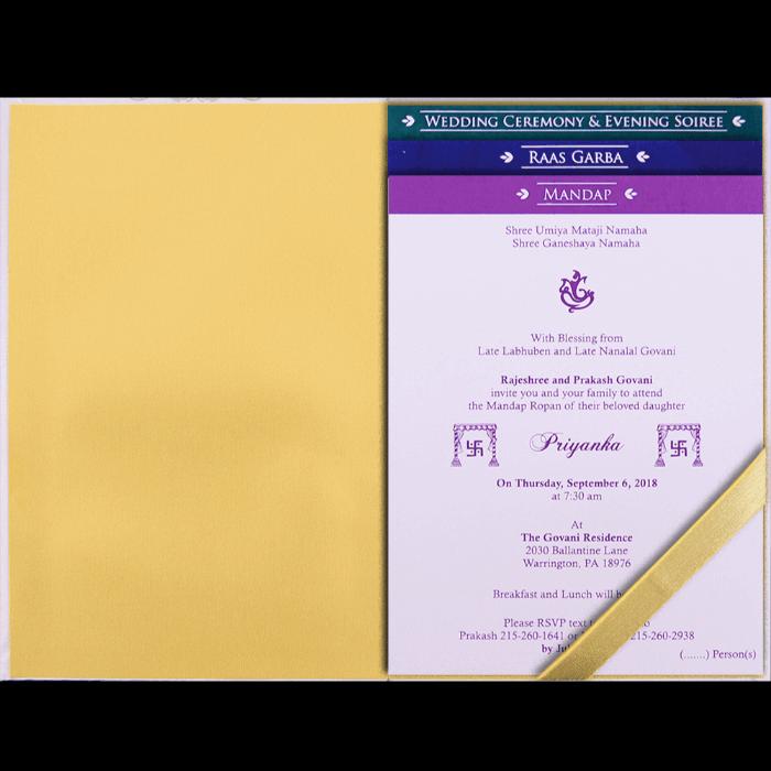 Custom Wedding Cards - CZC-9108 - 4