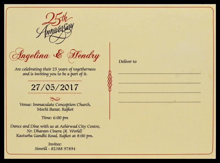 Anniversary Invites - AI-2705 - 3