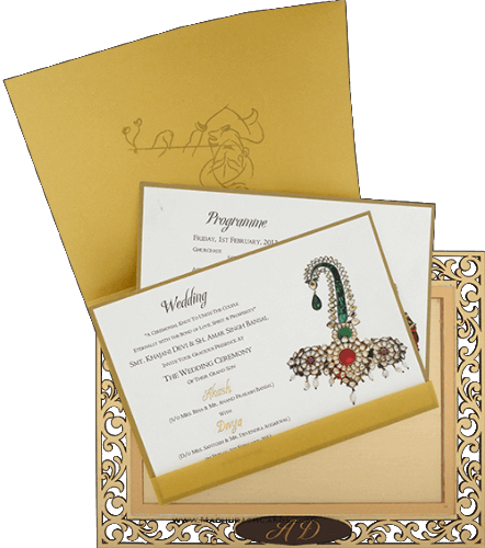 Custom Wedding Cards - CZC-9001 - 4