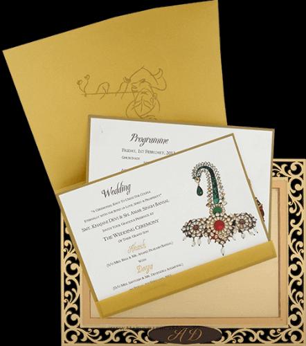 Customized Wedding Invitations - CZC-9001 - 4