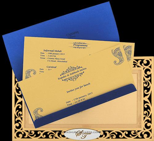 Customized Wedding Invitations - CZC-9002 - 4