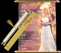 Scroll Wedding Invitations - SC-6091