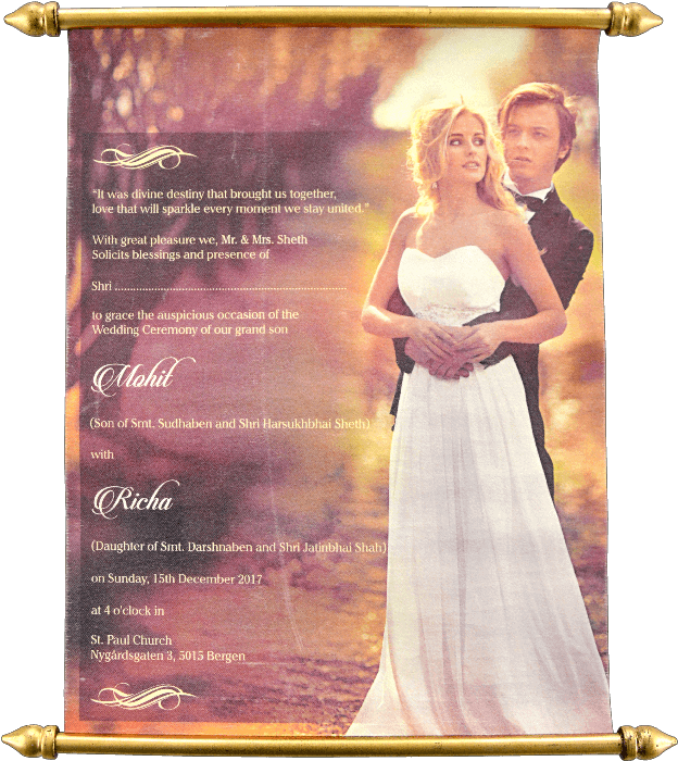 test Scroll Wedding Invitations - SC-6091