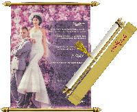 Scroll Wedding Invitations - SC-6092