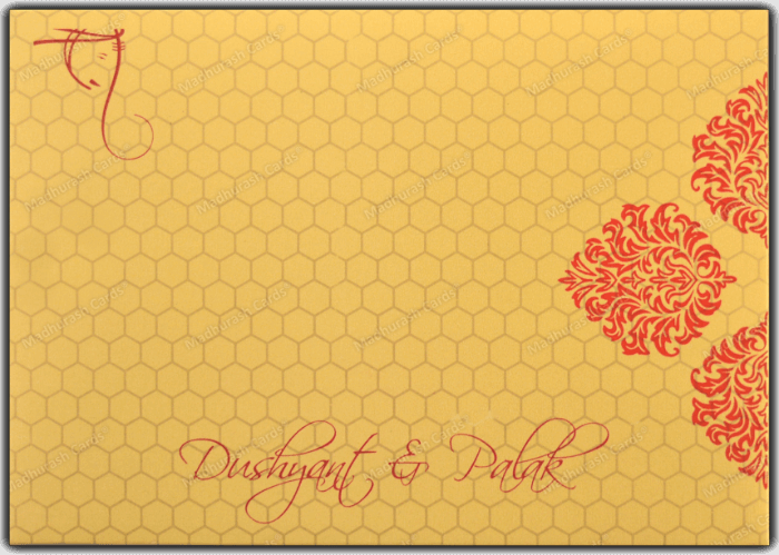 Designer Wedding Cards - DWC-7340 - 3