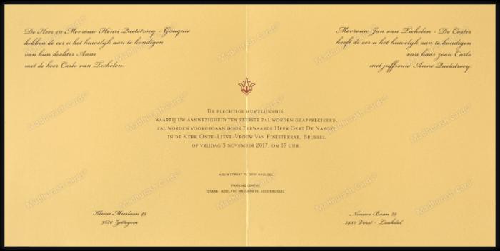 Fabric Invitations - FWI-9205A - 3