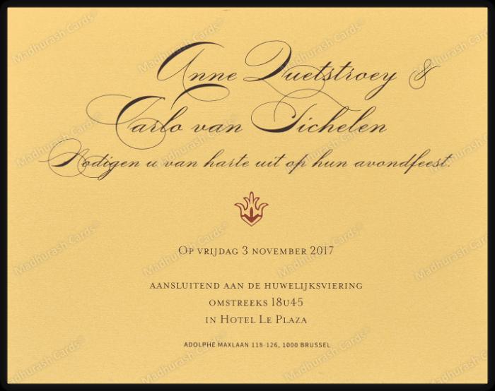 Fabric Wedding Cards - FWI-9205A - 5