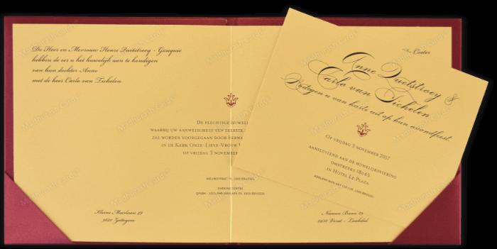 Designer Wedding Cards - DWC-9205A - 4