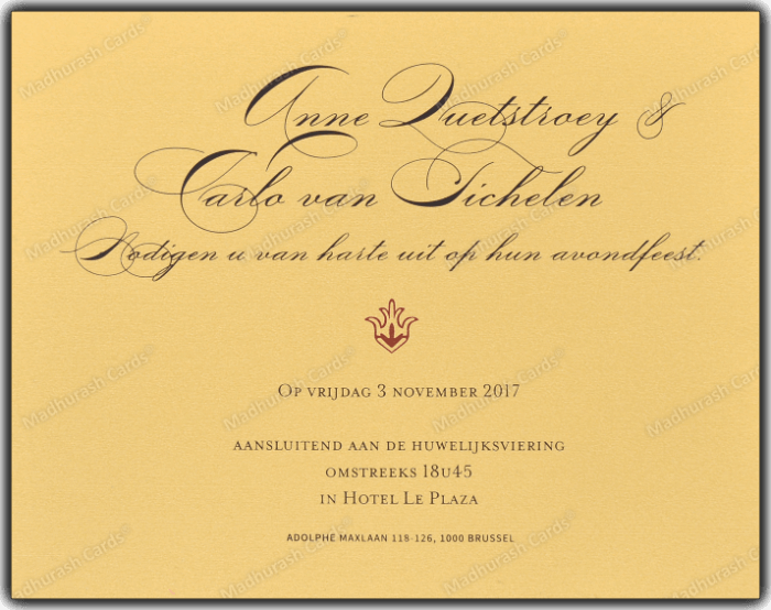 Designer Invitations - DWC-9205A - 5