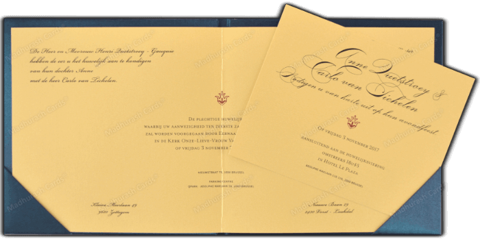 Fabric Invitations - FWI-9205B - 4