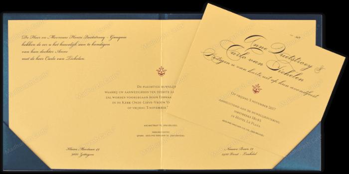 Custom Wedding Cards - CZC-9205B - 4
