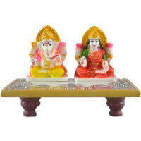 New Arrival - MG-Marble dust Ganesh ji and Lakhsmi ji choki
